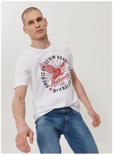 Wrangler Wrangler W7AHD3989_Grafik T-shirt  Beyaz
